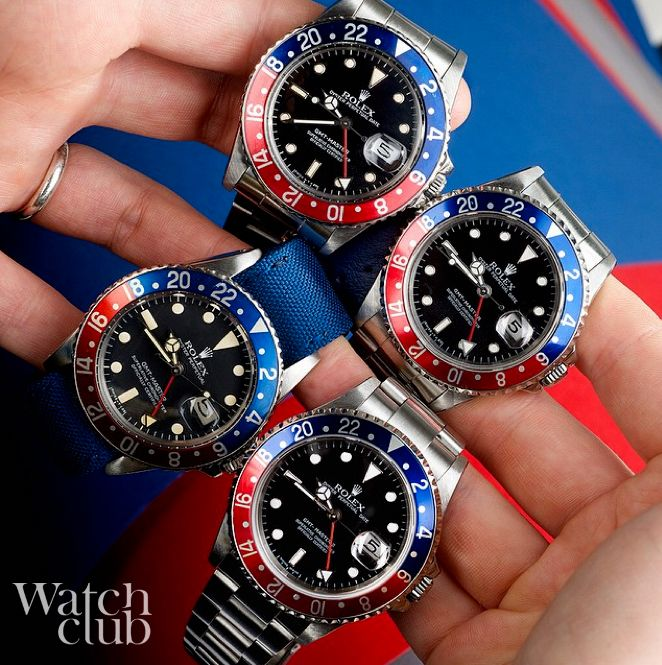 These Rolex GMT Pepsi are looking good together. REad about the watch here: http://www.watchtime.com/blog/reviewing-the-rolex-gmt-master-pepsi-bezel/ #Rolex #watchclub #watchtime #GMTMaster #luxurywatches @rolex @watch