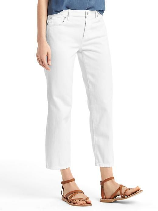 Gap Original 1969 Wide Leg Crop Jeans Pants Chalk White Tall Size ...
