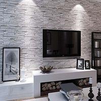 Grande parete 3d pvc moderna mattoni carta da parati per soggiorno E ...