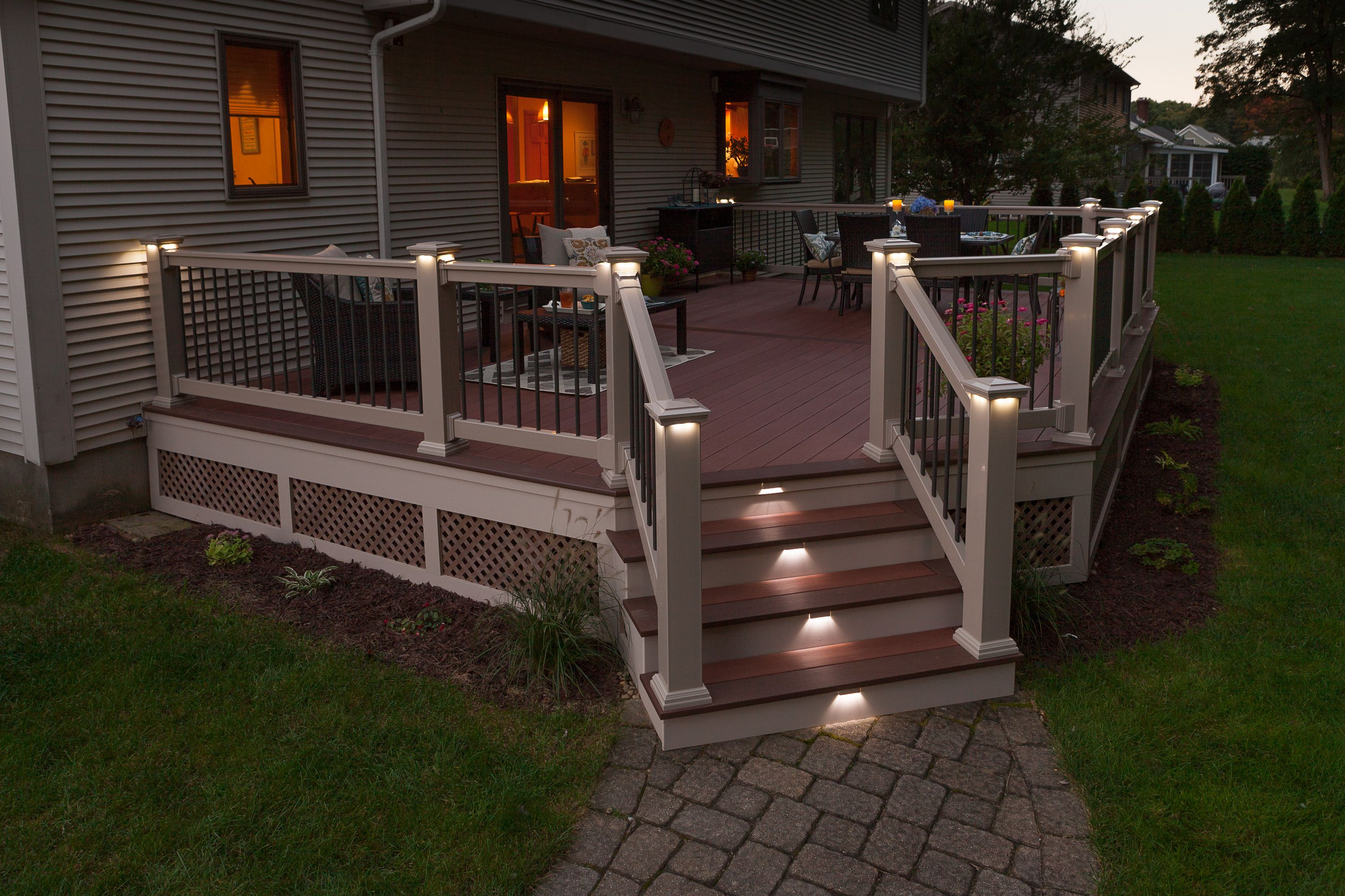 image result for how to space deck stair lighting deck on awesome deck patio outdoor lighting ideas that lighten up your space id=79687