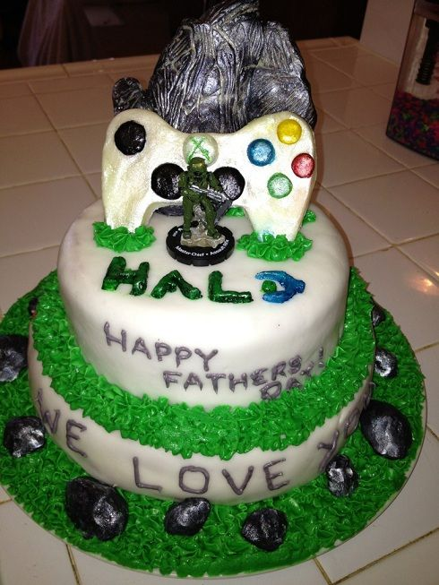 Halo Fathers Day Cake cakes Pinterest Cake Halo cake and