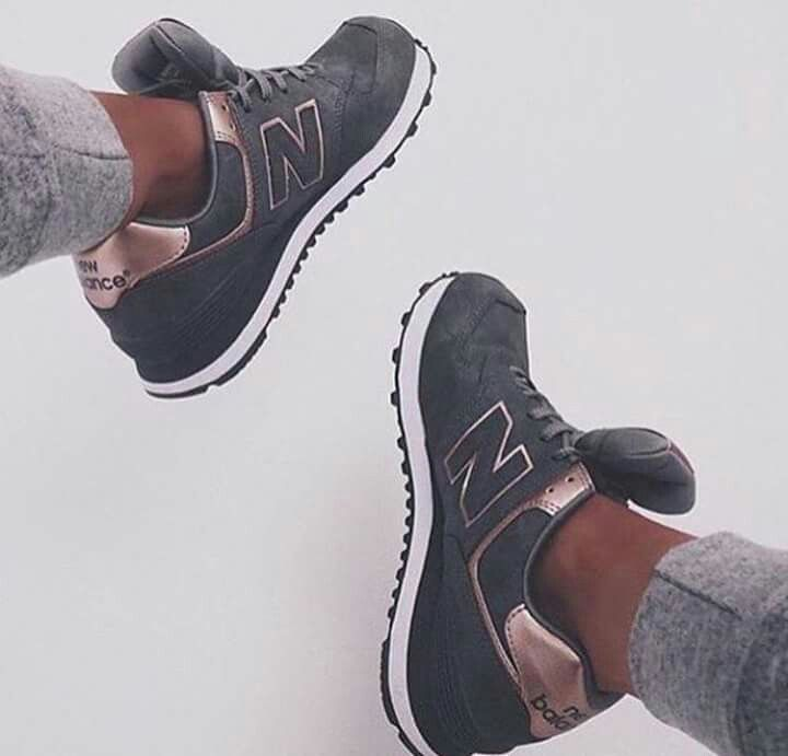 new balance grise et or rose