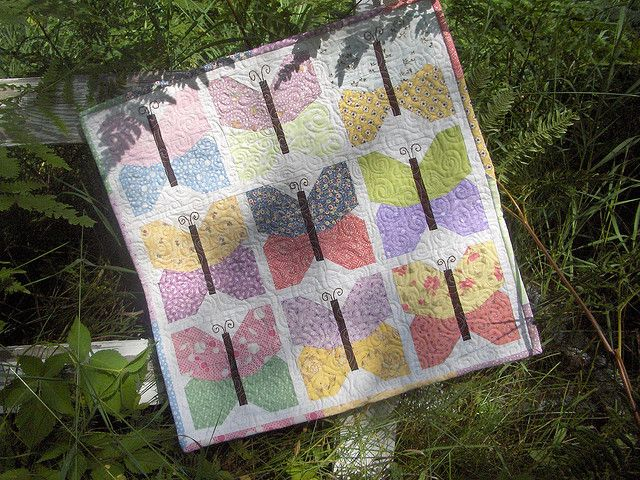 Ittybittybutterflyquilt by myittybittyquilts, via Flickr