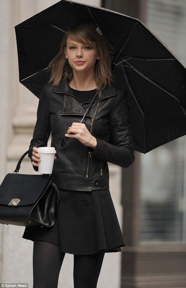Taylor Swift looks gorgeous in leather jacket and skirt to brave ...