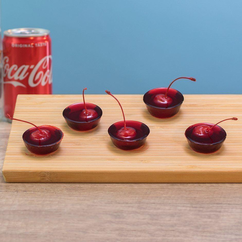 Rum & Cherry Cola Jello Shots