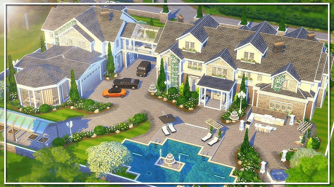 Luxury Mega Mansion The Sims 4 Speed Build No Cc Mega
