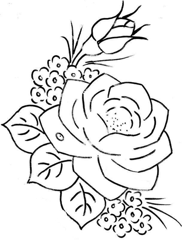 Risco De Rosas Para Pintura Pictures … | rosas | Pinte…