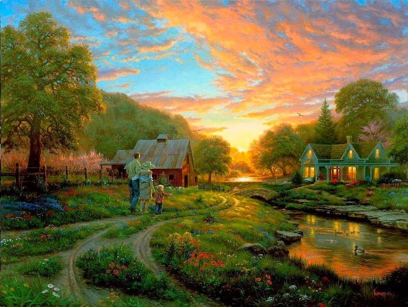 Amarna CRAFTS AND IMAGES: COUNTRY LIFE - MARK PAINTINGS Keathley - click on the images to enlarge them