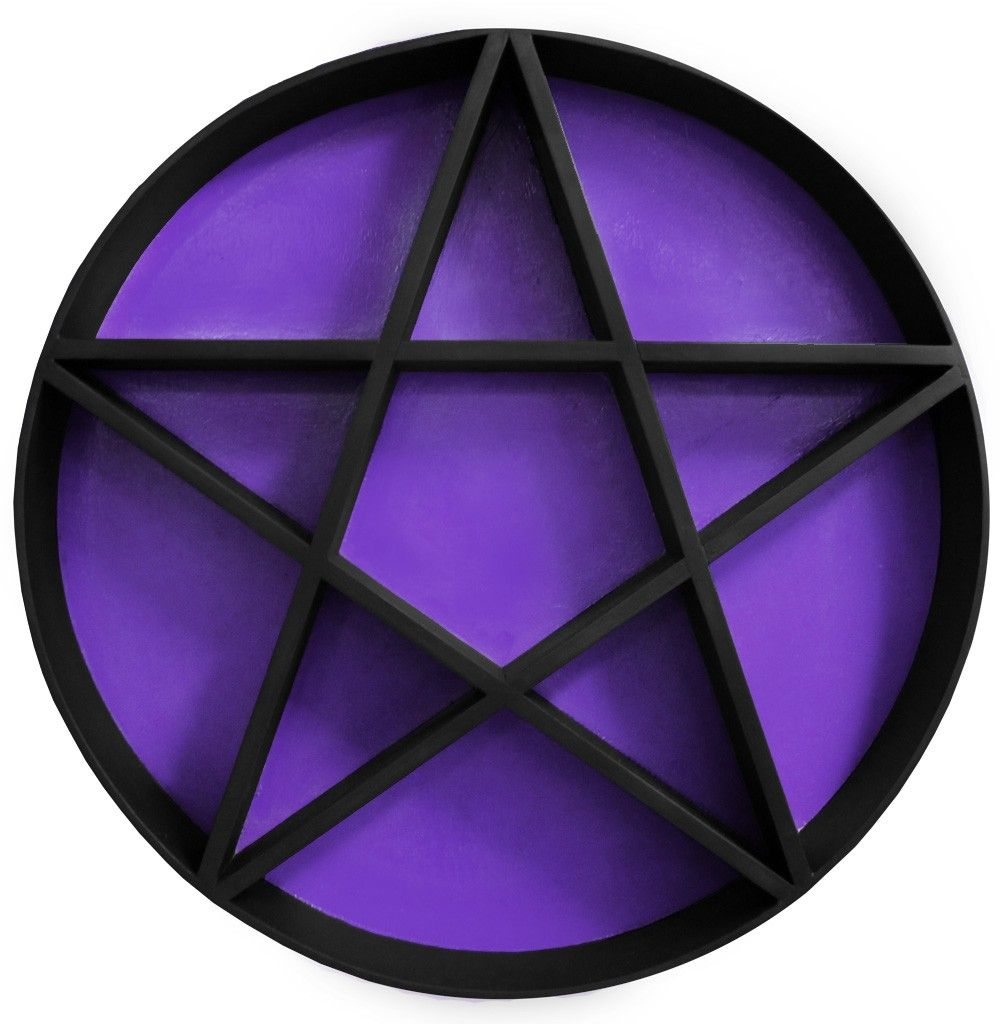 Decipher Designs Pentagram Shelf Black Amp Purple Buy