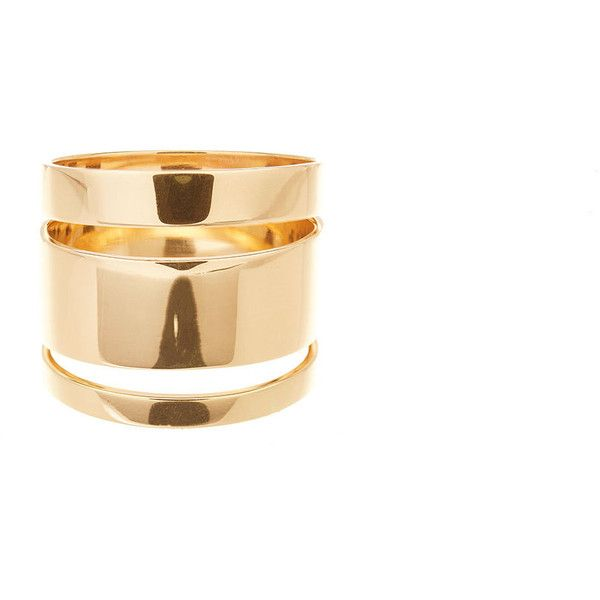 Lana 14K Gold Nude Ring 1555 liked on Polyvore featuring