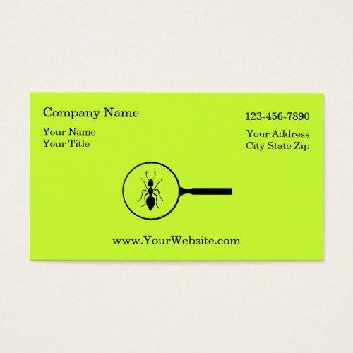 Simple Pest Control Business Cards Zazzle Com Cards Business Cards Pest Control