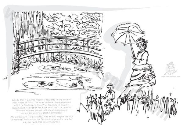 Claude Monet Coloring Sheets | Art hand-outs | Pinterest | Claude ...