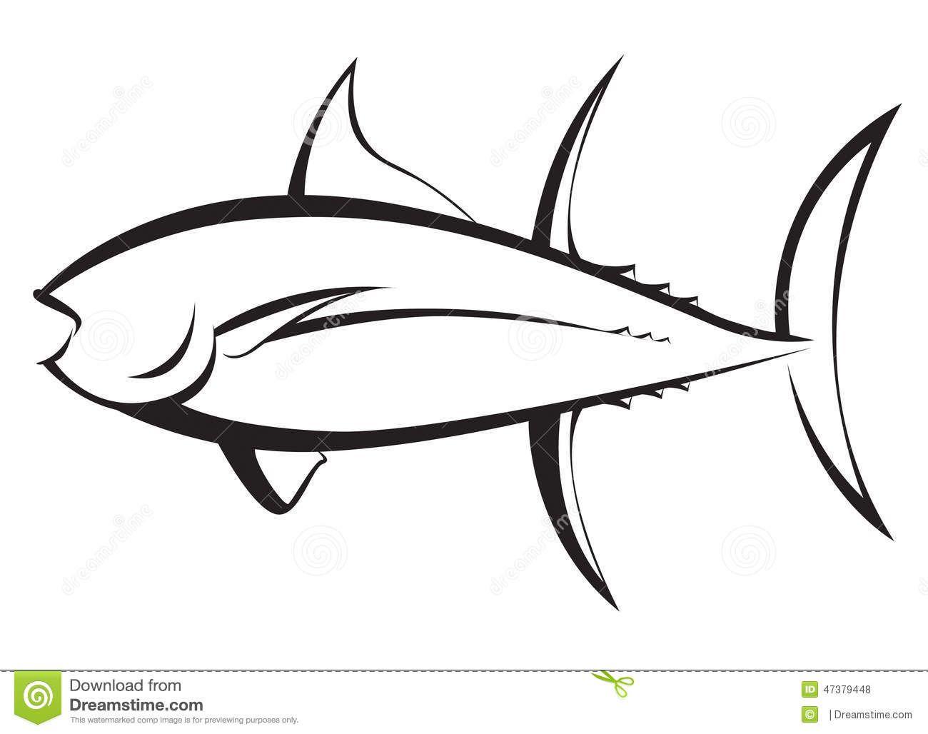Artistic Fish Silhouettes Tuna Fish Silhouette Stock Illustration Image 47379448 Fish Silhouette Tuna Fish Stock Illustration