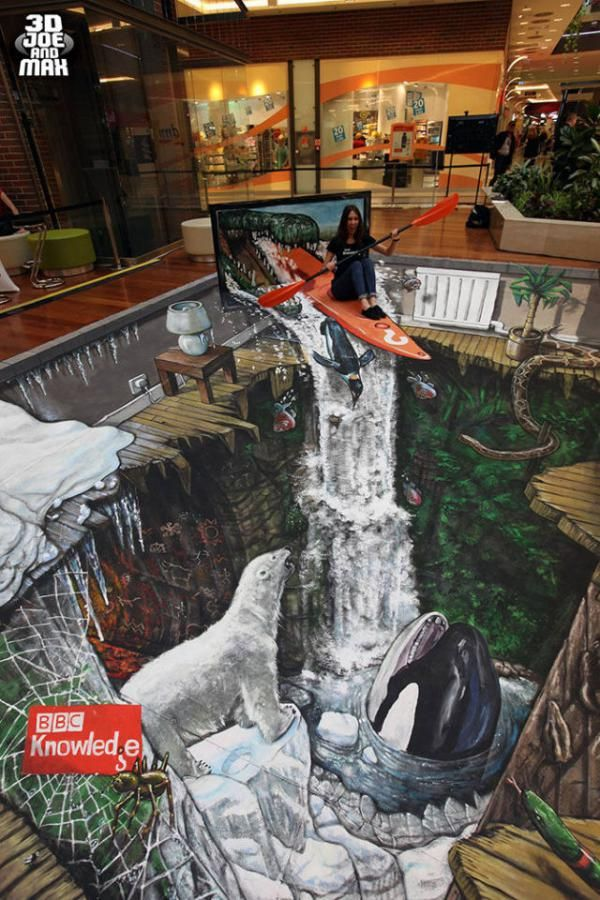 25 Realistic Street Art by 3D Joe and Max | Cuded - BBC knowledge , Prague, the Czech Republic