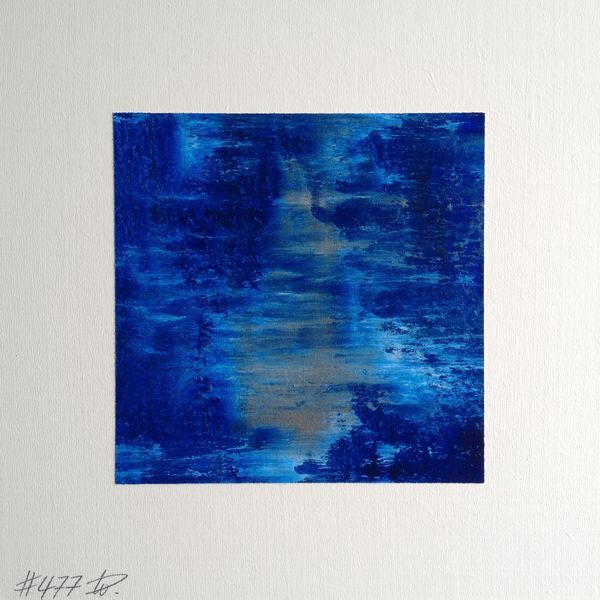 #477 | square abstract painting (original) | acrylic on white board | size 9 cm x 9 cm | boardsize 15 cm x 15 cm | https://www.etsy.com/shop/quadrART