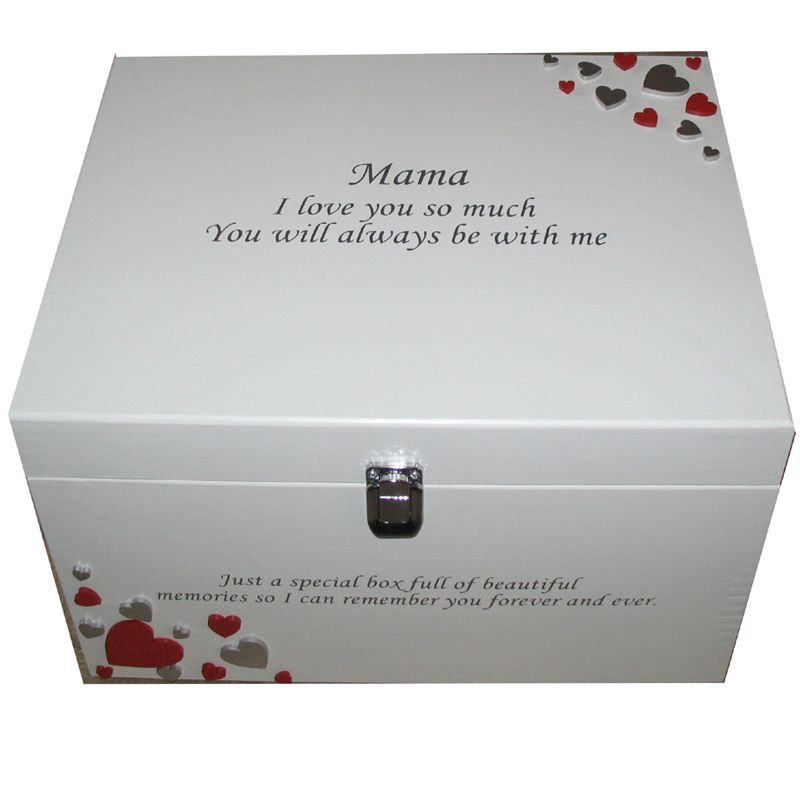 Decorative Romantic Keepsake Or Memory Boxes XL Painted With Silver Impressive Decorative Keepsake Memory Boxes