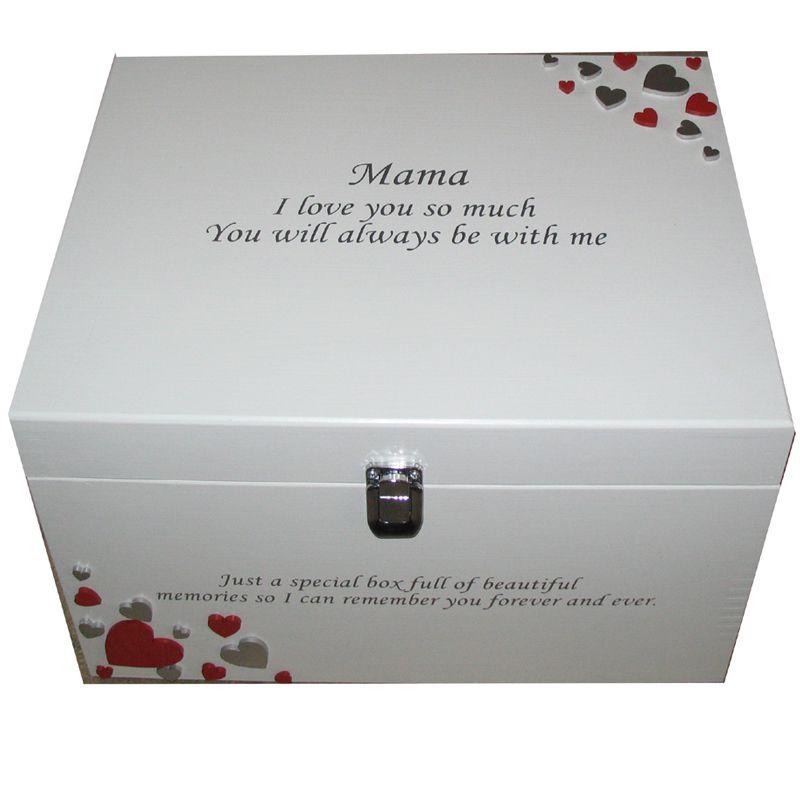 Decorative Romantic Keepsake Or Memory Boxes XL Painted With Silver Impressive Decorative Keepsake Memory Boxes