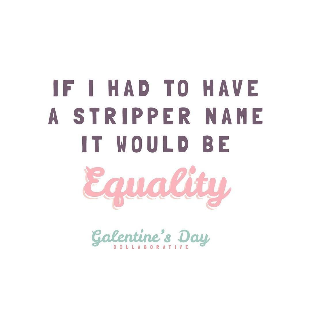 Leslie Knope Galentine's Day quote graphic. GalentinesDay