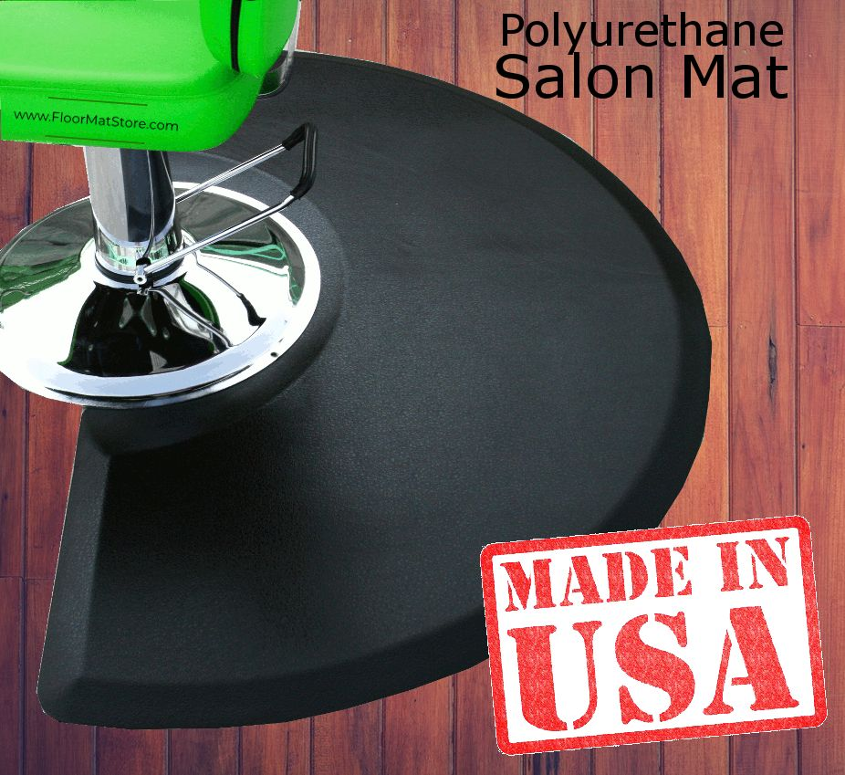 Our Comfort Craft Salon Mat Series Provides The Tailored Look Of Polyurethane But With A Classic Look With A Textured Surfa Salon Decor Barber Shop Decor Mats