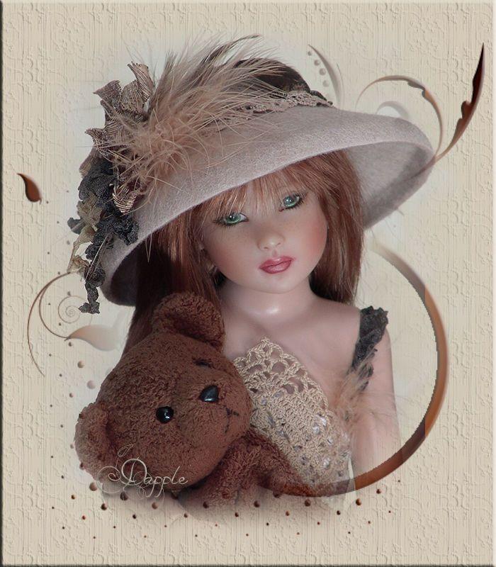 OOAK DAPPLE Hat 4 Kish Kitty Collier Gene Tyler Wentworth Franklin Mint by Linda