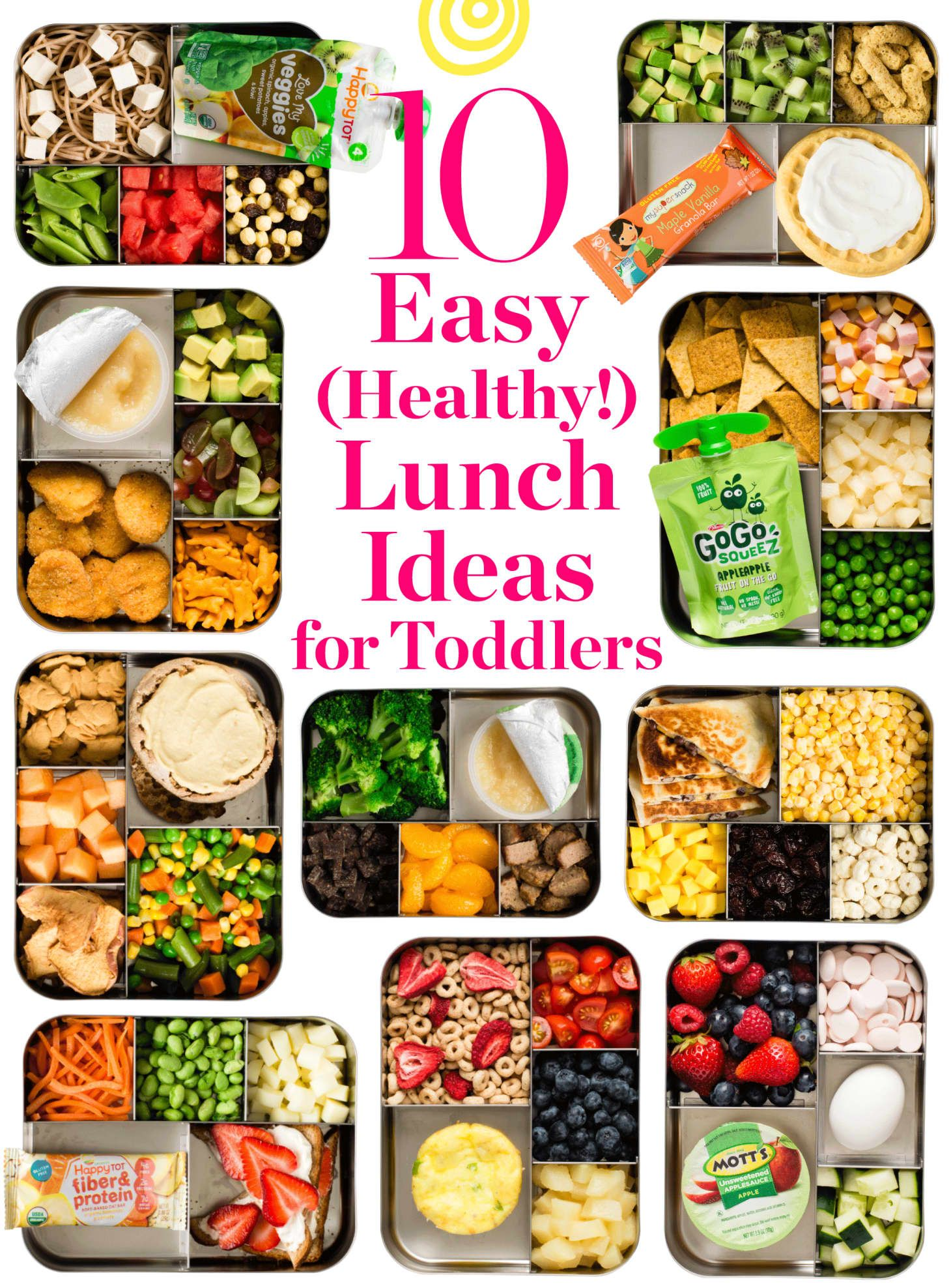 10 Super Easy (and Healthy!) Lunch Box Ideas for Toddlers & Preschoolers images