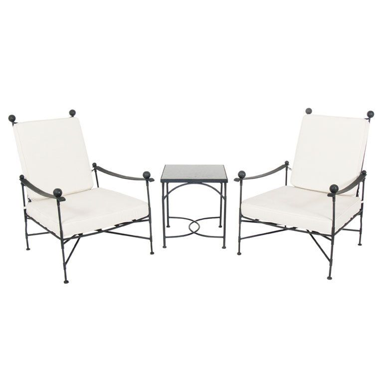 Salterini Lounge Chairs and Table | Decoración