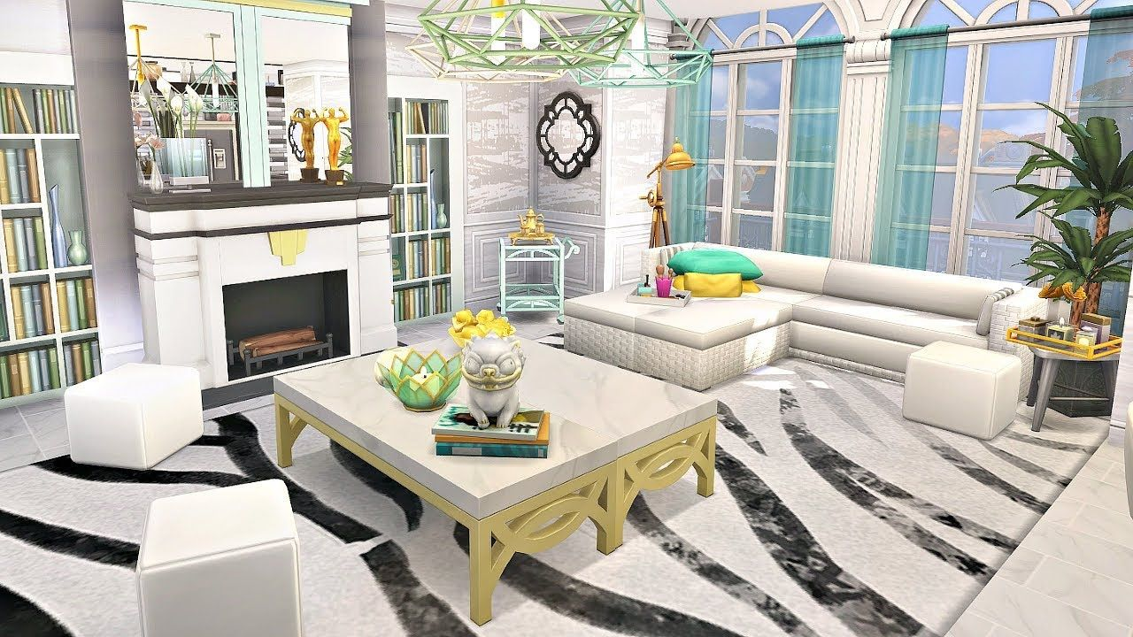 Roomsketcher Fläche Anzeigen The Sims 4 Chic Apartment Speed Build Simproved
