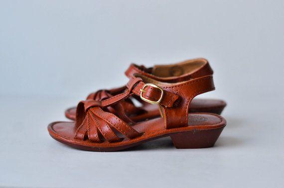 Vintage Baby Sandals Size 6