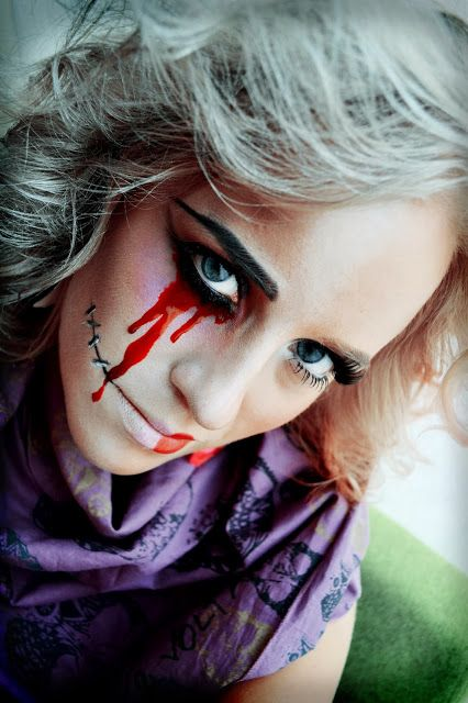 Halloween #blood #tears #halfface #doll #scary #makeup | Make Up ...