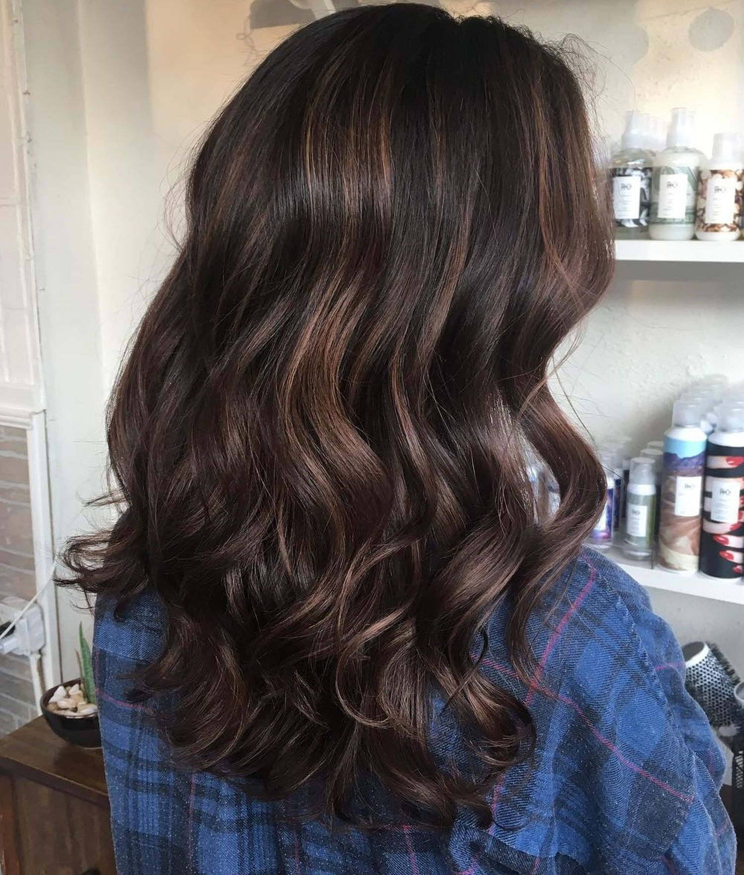 Brown Highlights For Curly Hair Brown Hair With Highlights Hair Highlights Curly Hair Trends