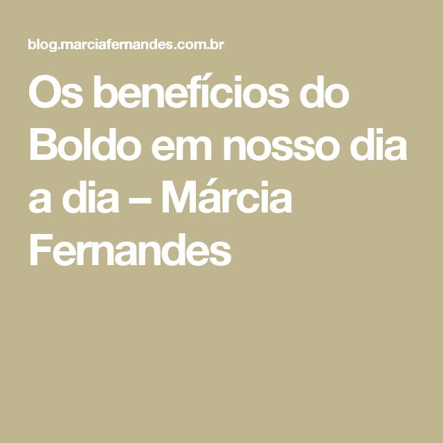 Os benefícios do Boldo em nosso dia a dia – Márcia Fernandes