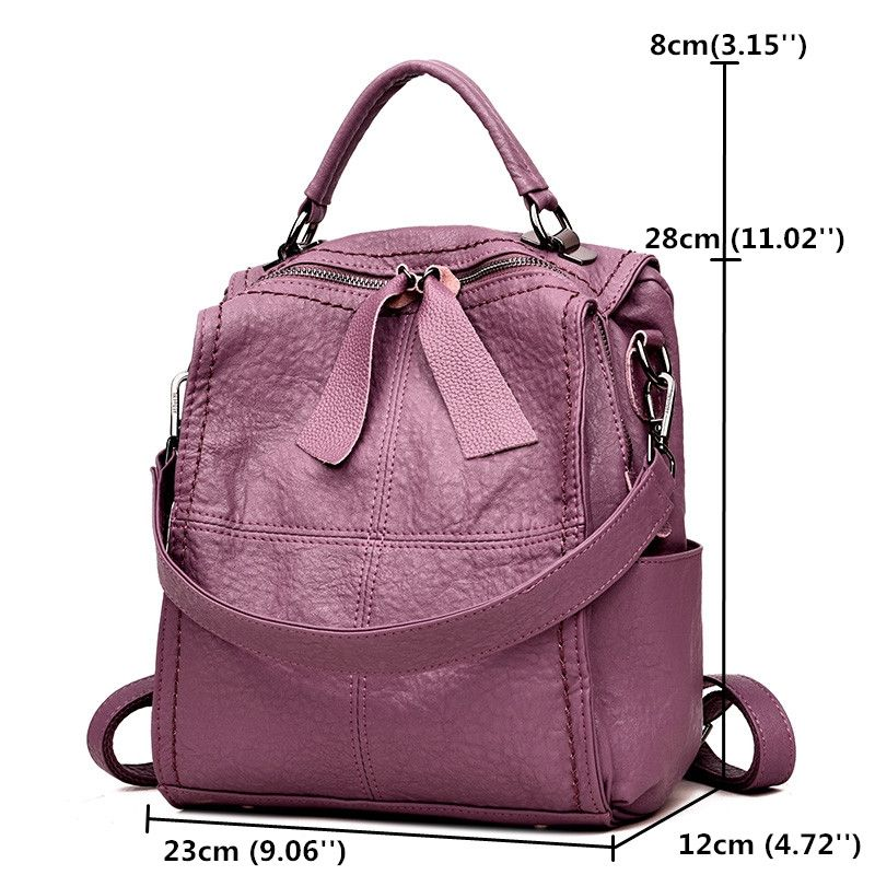 Hot-sale designer Women High-end Stitching Soft PU Leather Handbag  Multi-function Backpack Online - NewChic Mobile 1584e2674161a