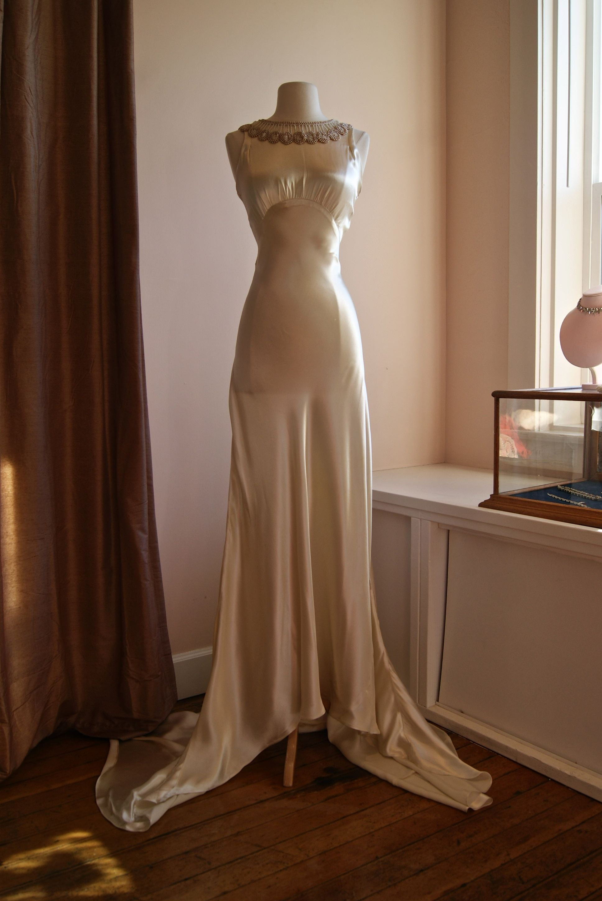 1930s silk bias cut wedding gown...at Xtabay Vintage Bridal Salon ...