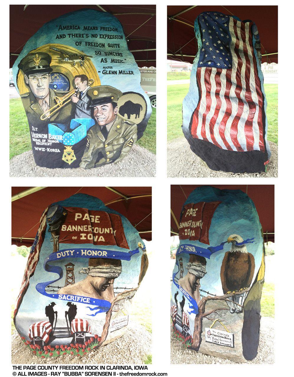 Freedom Rock Tour Pics Clarinda Iowa Glenn Miller Freedom