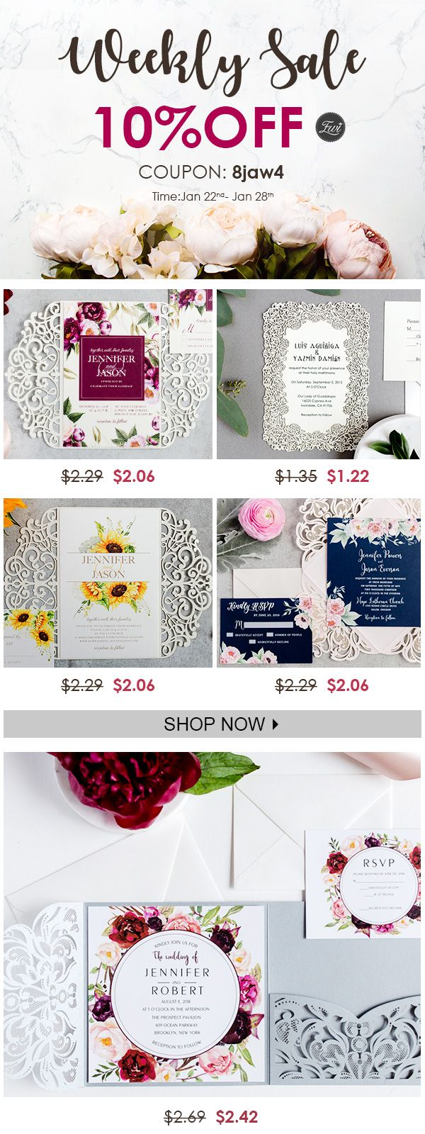 Enjoy 10% OFF on These Hot Sale Wedding Invitations ...