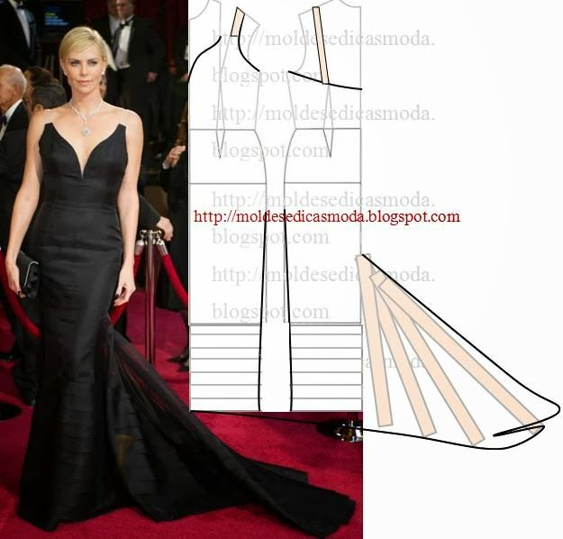 VESTIDO DE GALA PRETO COMPRIDO | Dress Patterns | Dress patterns ...