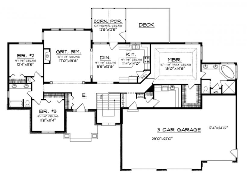 Craftsman Floor Plans With Basement: Very GOOD. Craftsman Style Rambler With Basement