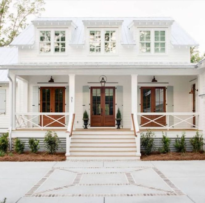 90 Incredible Modern Farmhouse Exterior Design Ideas 63: Spring Curb Appeal: DrivewaysBECKI OWENS
