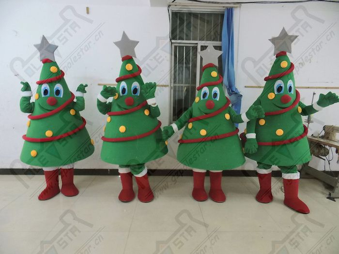 Hot Sale Christmas Tree Mascot Costumes Decorated High Quality Tree Costumes Tree Costume Christmas Ornaments Decor