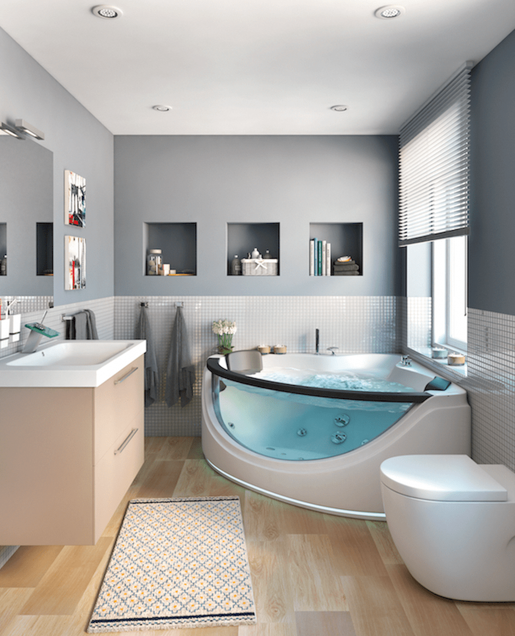 Easy Methods To Select A Deep Bathtub For That Soaking Expertise Bathroom Design Luxury Bathroom Design Inspiration Bathroom Interior Design