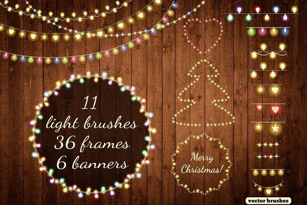 Christmas Lights By Alisovna On Creativemarket Christmas Lights Christmas Colors Holiday Projects
