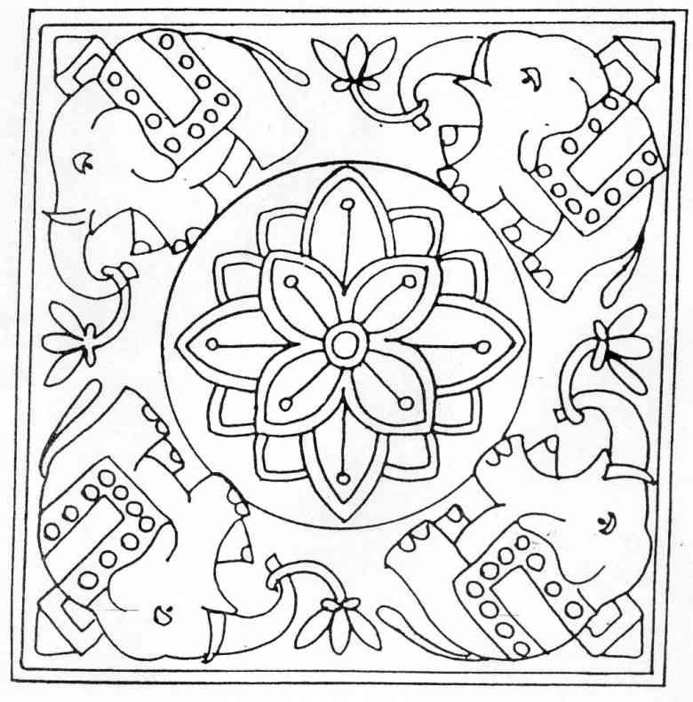 Colorear Mandalas (50) - Dibujo para Colorear | Motivos decorativos ...