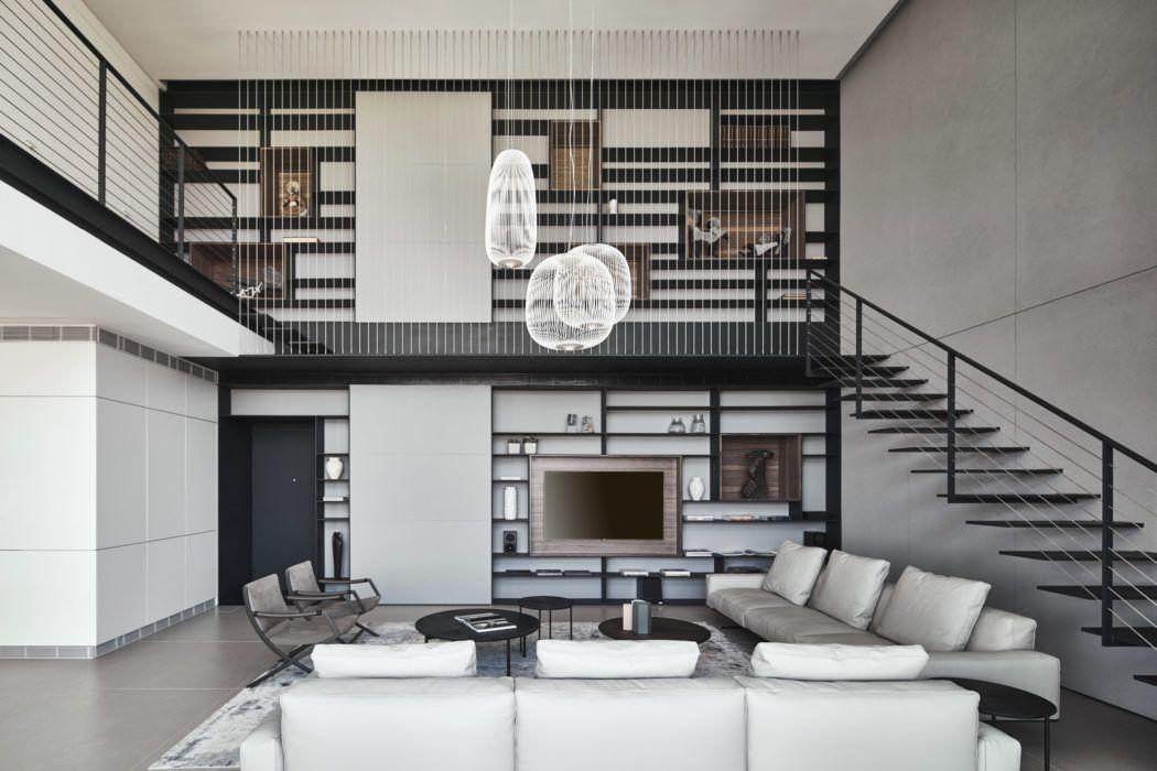 Duplex Apartment By Pitsou Kedem Architects Homeadore Duplex Apartment Duplex Design Apartment Interior Design