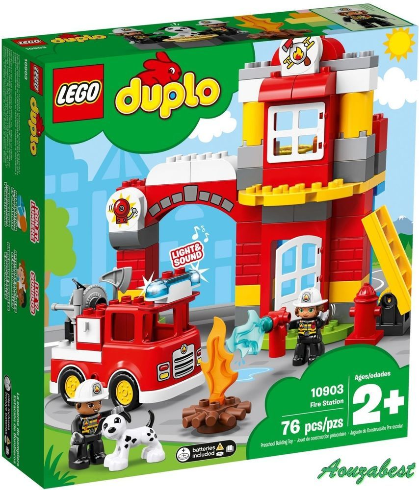 Lego Duplo 10903 Fire Station And Fire Truck Building Toy For Kids