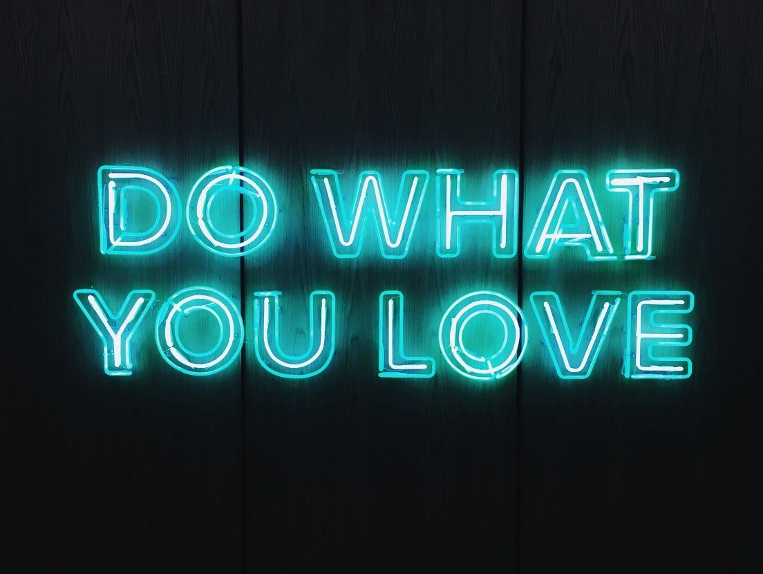 Do What You Love OhMyGrid is custom wall art in a satisfying grid layout Image Source