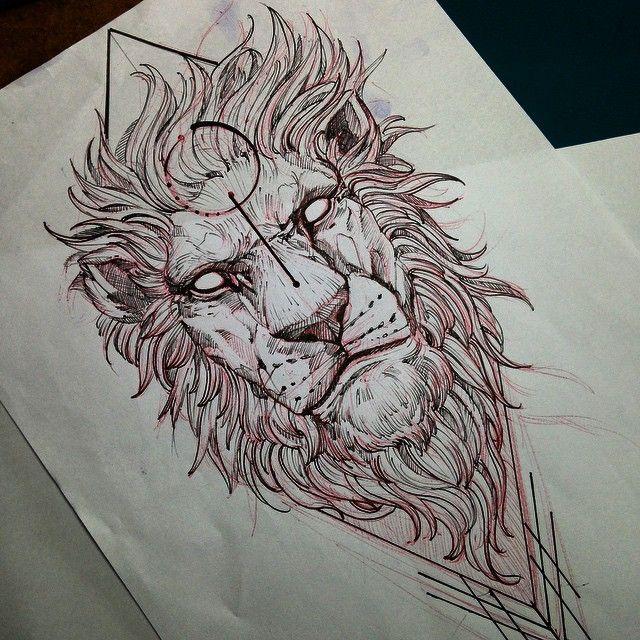 lion fredao oliveira draw sketch lion blacktattooart. Black Bedroom Furniture Sets. Home Design Ideas