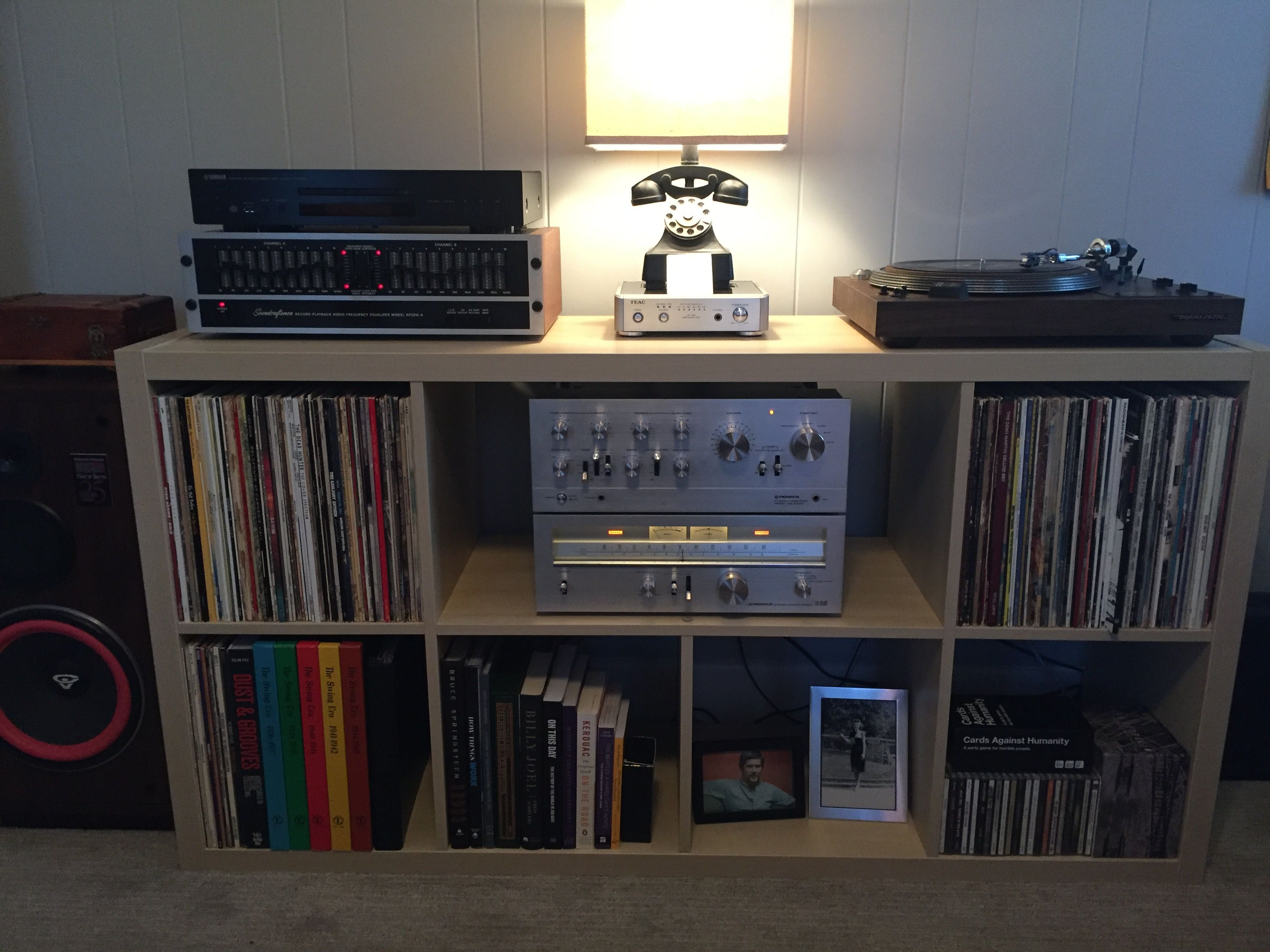 Record Shelf, Basement Studio, Ikea Kallax, Music Rooms, Vinyl Records,