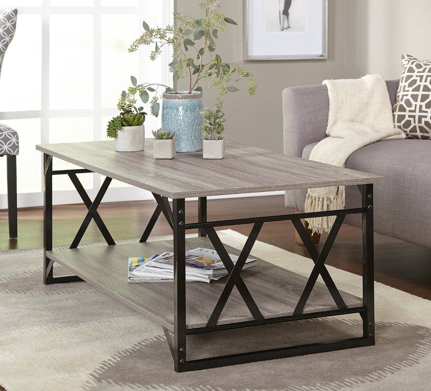 Phaidra Sled Coffee Table With Storage Cocktail Tables Living Room Coffee Table Farmhouse Coffee Table