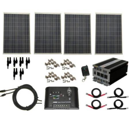 Complete 400 Watt Solar Panel Kit with 1500 Watt VertaMax