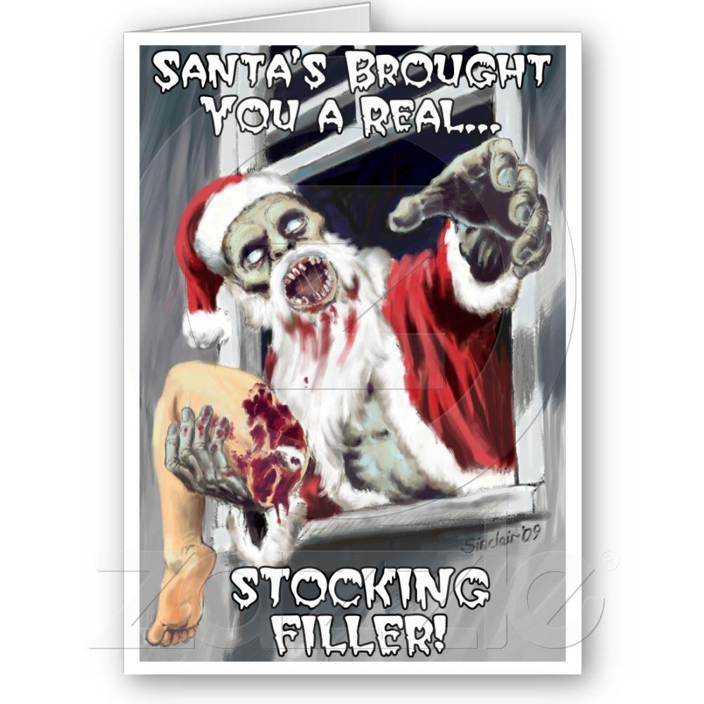 Zombie Santa Christmas Card Zazzle Com With Images Santa